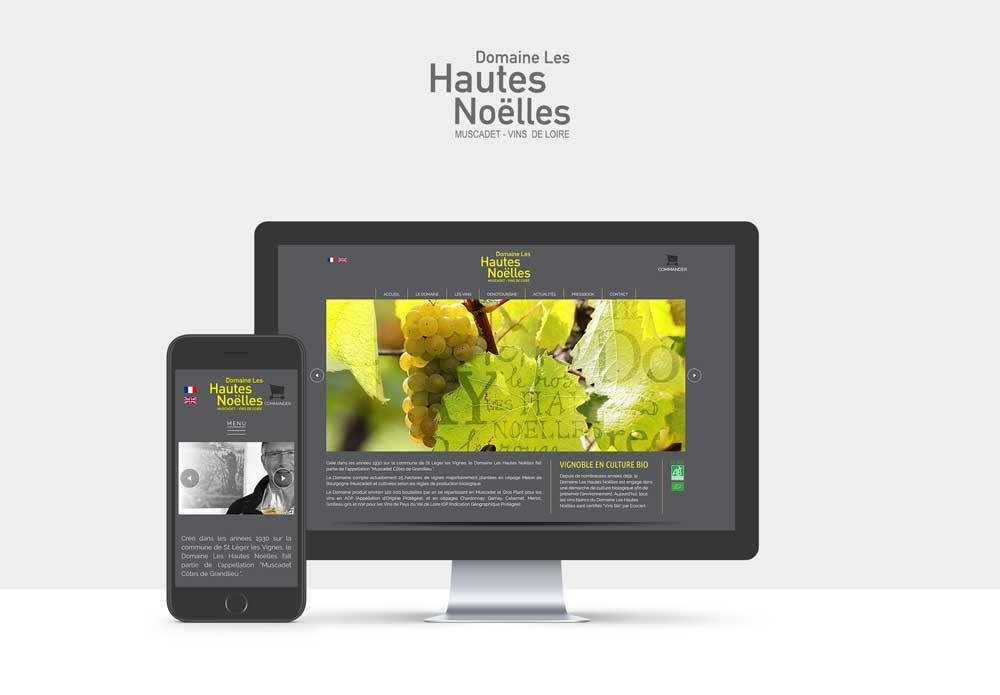 Site internet d'un Domaine viticole