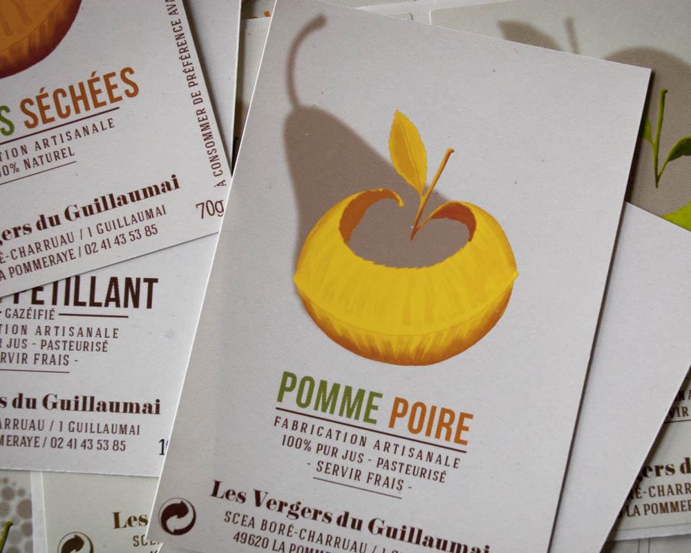 étiquette jus de pomme poire