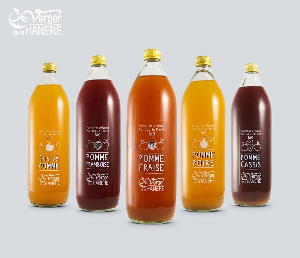 Étiquettes de produits à base de pomme bio