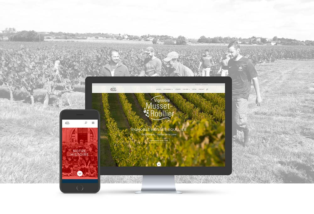 Site internet Vignoble