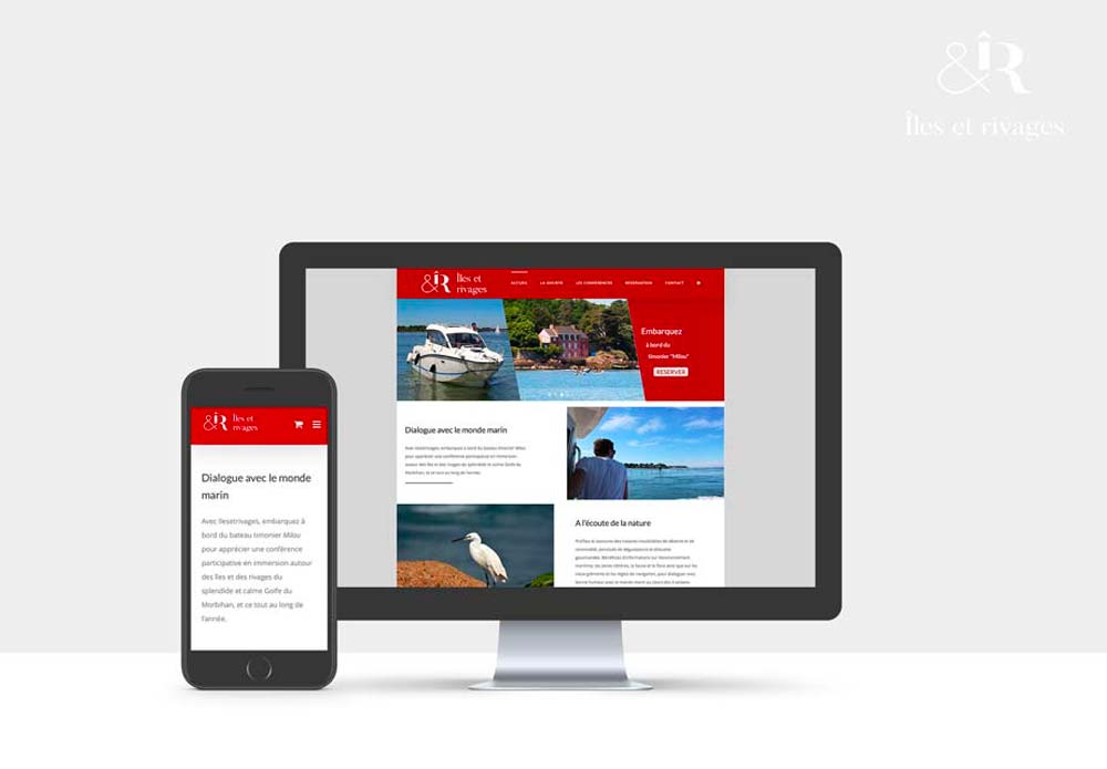 Site internet d'une société de tourisme nautique